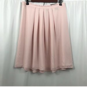 NWT Banana Republic pink pleated skirt 6